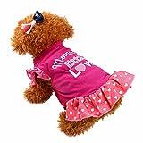 WEUIE Big Puppy Clothes Summer Cute Pet Puppy Small Dog Cat Pet Dress Apparel Clothes Fly Sleeve Dress