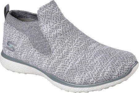 Skechers Women's Microburst Imagination Slip-On High Top,Gray/White,US 5.5 M