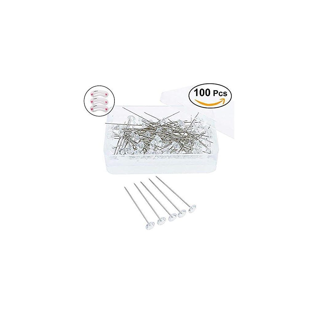 Coobbar-100pcs-Clear-Corsages-Pins-Wedding-Bouquet-Pins-Crystal-Floral-Pins