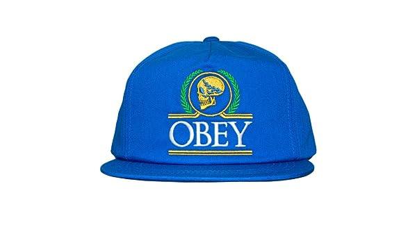 Obey - Gorra con Visera Plana para Hombre Emperors Snapback ...