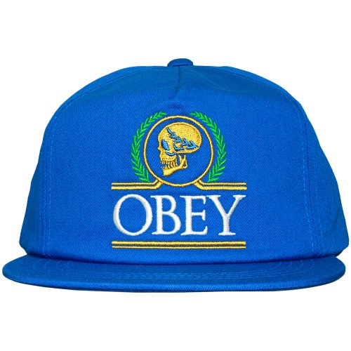 Obey cobalto plana hombre Gorra diseño Snapback para visera de Emperors con q71Pwqp