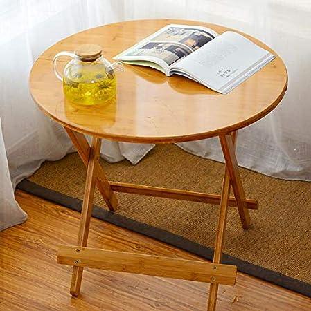 IBLUELOVER Mesa de jardín plegable de bambú, mesa de jardín, mesa de comedor pequeña de madera, mesa de comedor, mesa de TV, portátil, mesa de patio, muebles para comer, escribir, estudiar: Amazon.es: