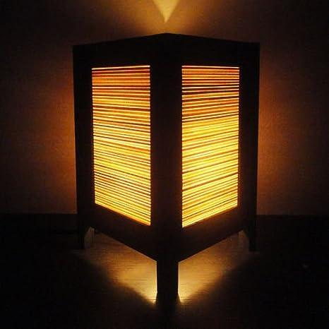 Amazon.com: Asia Oriental Naranja Zen bambú Arte Mesita de ...