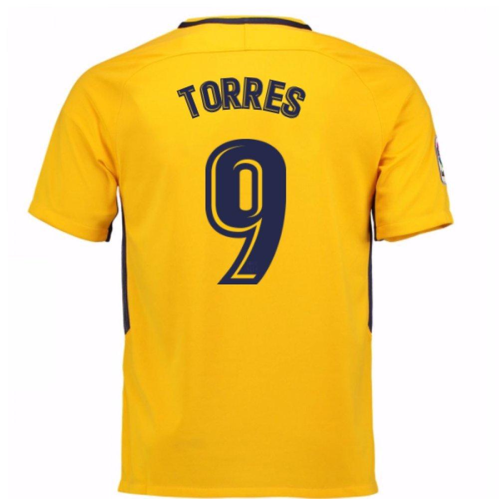 2017-18 Atletico Madrid Away Football Soccer T-Shirt Trikot (Fernando Torres 9) - Kids