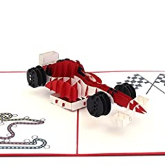Send the F1 Racing 3D pop-up card to an F1 enthusiast to get them ready for race season. It would also work well as a themed birthday or graduation party invitation. Or perhaps a friend got a speeding ticket and you want to rub it in a little...