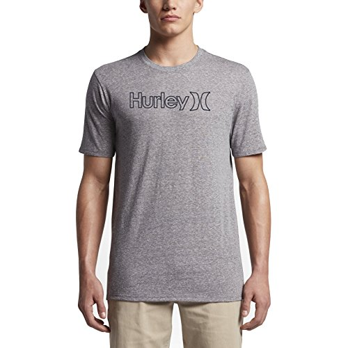 (New Hurley Men's One & Only Outline Tri-Blend Ss Tee)