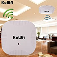 KuWFi 600Mbps 2.4G/5.8G Dual Band 802.11AC Indoor Ceiling Mount Wireless Access Point Wifi Repeater Router 24V POE Router AP