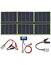 YUANFENGPOWER 300w 12 V opvouwbaar zonnepaneel kit zonnelader 6 x 50w 20v zonnepanelen monokristallijn met 30A laadregelaar voor boot, auto, caravan, camper, camping, 12v batterij opladen