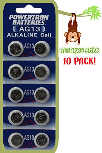 10 Pack LR44 Replacement Batteries for Finger Monkeys - Easy install guide (10) Fingerlings Battery Upgrade Accessory Accessories playset Monkey