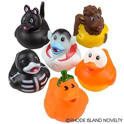 Halloween Rubber Ducks - Set of 12 (Halloween Cute Zombie Makeup)