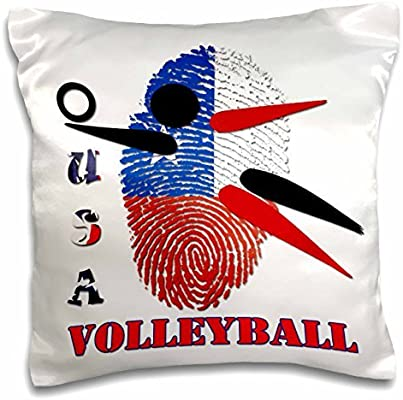 69f0e59a7ace onepicebest Sport Quotes - USA Volleyball- Win- Score- Champion- - 18x18  inch Pillow Case