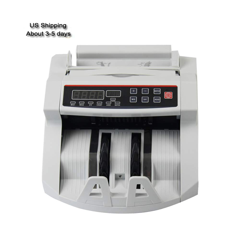 Denshine Automatic Money Bill Currency Counter Counting Machine, Counterfeit Detector UV MG Cash - USA Shipping
