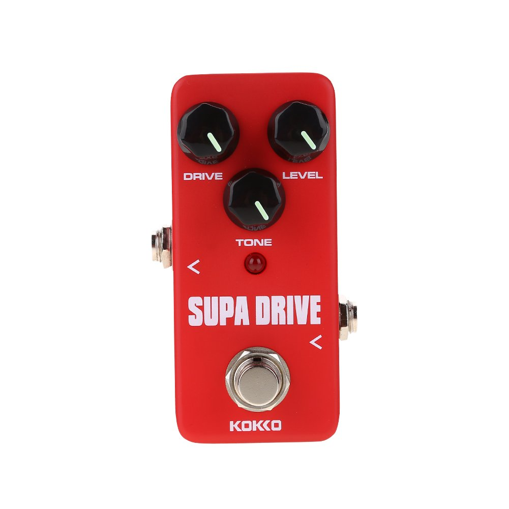 SUPA DRIVE Guitar Pedal Mini Portable Effect Pedal for Electric Guitar True Bypass Aluminum Alloy 6.35mm Jack Accessory by Vbestlife