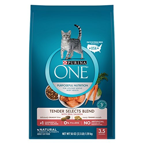 Purina One Tender Selects Blend With Real Salmon Adult Dry Cat Food - 3.5 Lb. Bag -