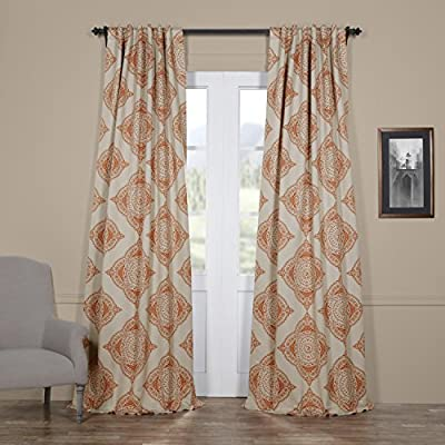 "HPD HALF PRICE DRAPES BOCH-KC27-84 Blackout Room Darkening Curtain, 50 X 84, Henna - Sold Per Panel 100% Polyester 3"" Pole Pocket with Back Tabs - living-room-soft-furnishings, living-room, draperies-curtains-shades - 51EbLmsOLNL. SS400  -"