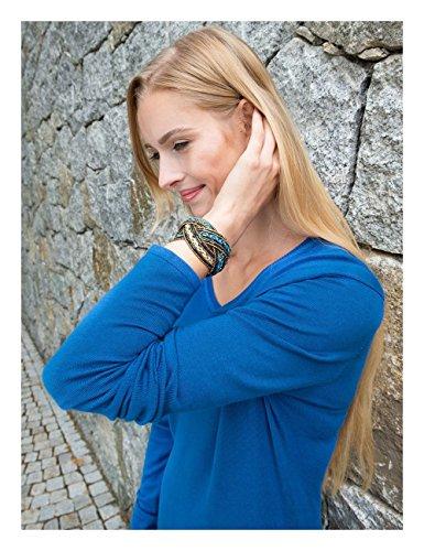 Boch von azurblau Strick Damen Kleid Brigitte Aclare q5gCHqd
