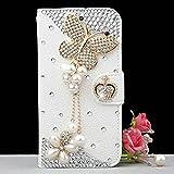 Spritech(TM) Bling Butterfly Galaxy S6 Edge+ Case Luxury 3D Fashion Handmade Bling Crystal