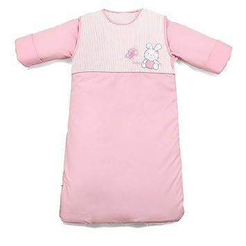 AZUO Manga Saco De Dormir Desmontable 100% Algodón Bebé Saco De Dormir Adecuado para Infante 0-1 Años De Edad Super Suave Transpirable,Pink,L: Amazon.es: ...