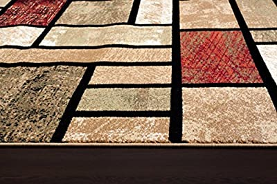 1007 Beige Area Rug Modern Carpet Large New
