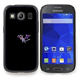 """Qstar Arte & diseño plástico duro Fundas Cover Cubre Hard Case Cover para Samsung Galaxy Ace Style LTE/ G357 (Meter Monstruo Morado Dragón"""")"""