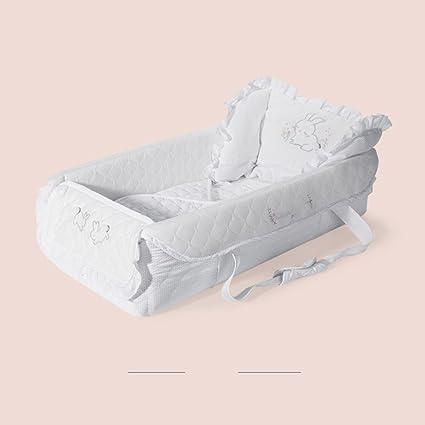 Aik@ Portátil Cuna,Cuna de viaje Cama de bebé 100% algodón Suave Hipoalergénico