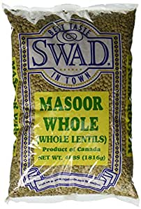Great Bazaar Swad Masoor Whole Massor Dal, 4 Pound
