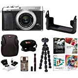 Fujifilm X-E3 Mirrorless Digital Camera w/XF23mm f/2 R WR Lens (Silver) w/BLC Leather Case & Editing Software Bundle