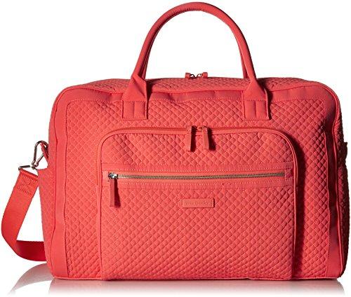 Vera Bradley Iconic Weekender Travel Bag, Microfiber, Coral Reef by Vera Bradley