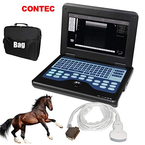 CONTEC CMS600P2 Vet Veterinary,Portable Laptop B-Ultrasound Scanner Machine for Horse/Equine/Sheep Big Animal Use Newest FDA (Convex Probe)