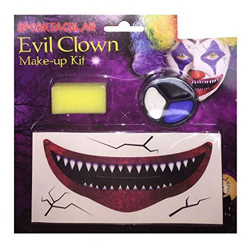 Rimi Hanger Halloween Evil Clown Makeup Face Painting