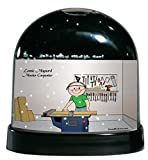 Personalized Friendly Folks Cartoon Caricature Snow Globe Gift: Carpenter - Male Great for professional carpenter, wood worker, contractor, subcontractor