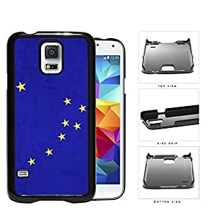 Blue Alaska State Flag with Yellow Stars Hard Snap on Phone Case Cover Samsung Galaxy S5 I9600