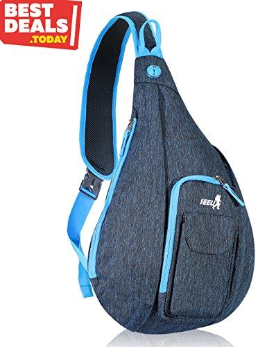 SEEU 8668 Cross Body Shoulder Backpacks, Durable Rope Strap Sling Bags