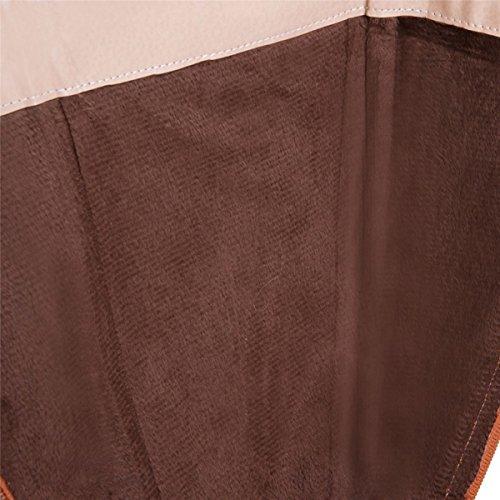 Meijia Des 4 Plat Type Femmes 3 En Bottes Motards Cuir Talon Taille Cheval De À Dames Des 9 Faux Bas Genou brun Veau dqtww