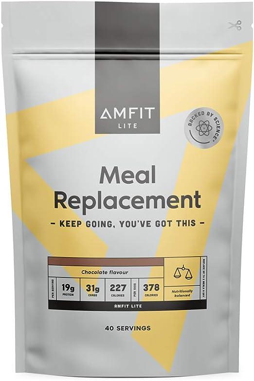 Marca Amazon - Amfit Nutrition Sustitutivo de una Comida para el Control del Peso Sabor Chocolate, 2.4kg (anteriormente PBN)