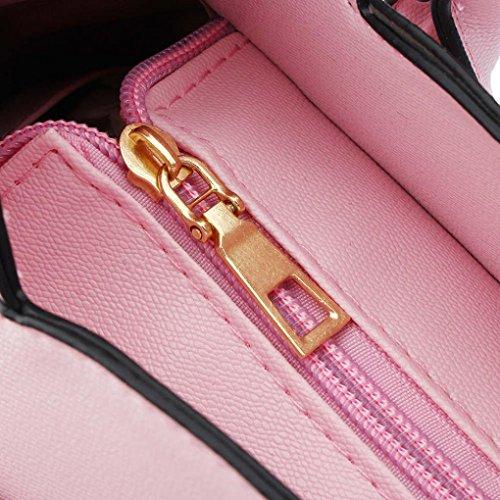 Cat GINELO Shoulder Handbag Boxy Pink Cute Purse bag Crossbody Suede Fashion Top Handle Women's Bag OgqwA0I0
