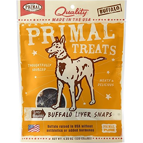 Primal Pet Foods Buffalo Liver Chunks Dog Treat
