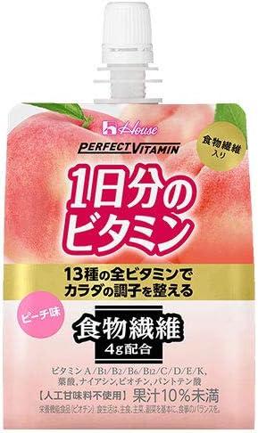 ハウスウェルネス PERFECT VITAMIN(パーフェクトビタミン) 1日分のビタミンゼリー 食物繊維 180gパウチ×24本入