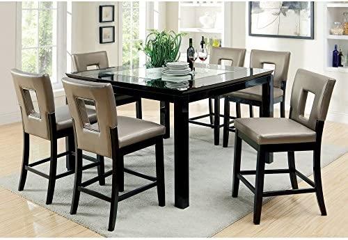 Furniture of America Durant 9-Piece LED-Illuminated Pub Dining Set
