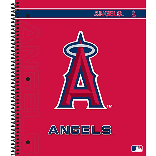Angel Measures (C.R. Gibson 5-Subject Spiral Notebook, College Ruled, Liscensed By MLB, Measures 9.25