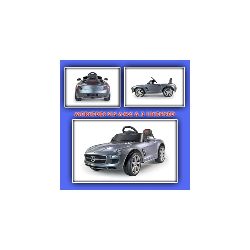 New Mercedes SLS AMG 6.3 LICENSED Baby Kids Ride On Power Wheels Battery Toy Car  Remote Control