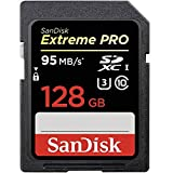 SanDisk Extreme PRO 128GB UHS-I/U3 SDXC Flash Memory Card with up to 95MB/s- SDSDXPA-128G-G46