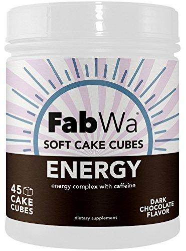 Fabwa Soft Cake Energy Chews, Dark Chocolate, 45 Count