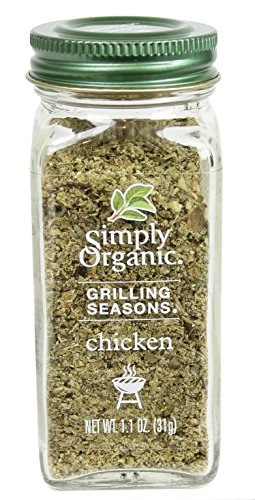 Simply Organic Grilling Seasons Chicken, 1.10 (Chicken Grilling Seasoning)