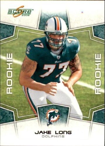 2008 Score Football (2008 Score Football Rookie Card #331 Jake Long Near Mint/Mint)