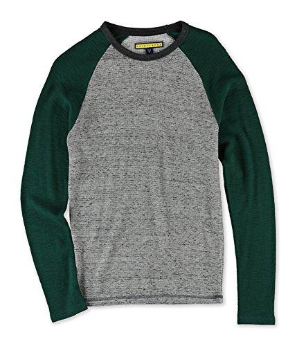Aeropostale Mens Raglan Thermal Sweater, Grey, X-Small ()