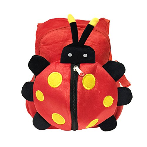 Price comparison product image Bowbear Cuddly Buddies Plush Stuffed Animals Cartoon Backpack, Red Bug