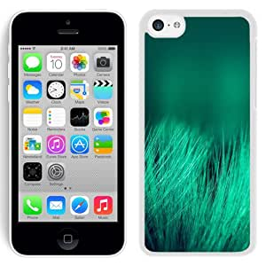 NEW Unique Custom Designed iPhone 5C Phone Case With Green Grass Threads Depth Of Field_White Phone Case