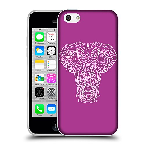 GoGoMobile Coque de Protection TPU Silicone Case pour // Q09600621 Éléphant indien 2 byzantin // Apple iPhone 5C
