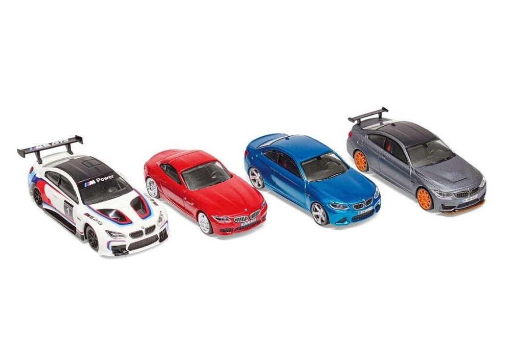 BMW Z4 Kids Kollektion 2016//2020 Original BMW Miniatur Set 1:64 BMW M6 GT3 BMW M4 GTS BMW M2